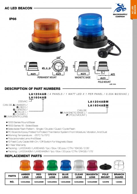 AC LED BEACON